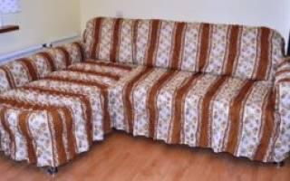 Как сделать выкройку чехла на диван?