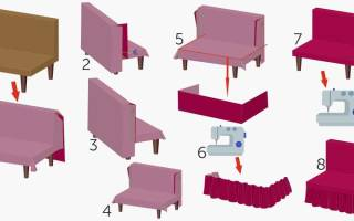 Как из пледа сделать чехол на диван?