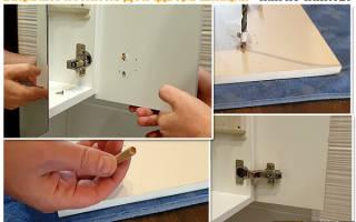 Как крепить дверцы кухонного шкафа?
