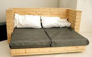 Как из односпальной кровати сделать диван?
