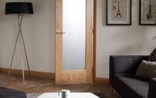 Как поменять стекло в межкомнатной двери?