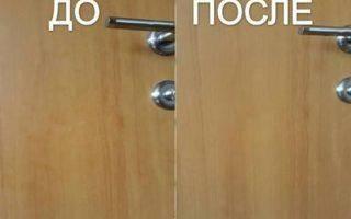 Чем помыть деревянные двери?