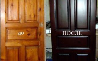 Как восстановить покрытие межкомнатной двери?