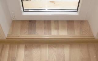 Как заделать порог после установки двери?