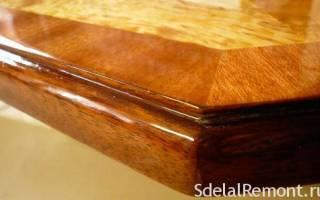 Каким лаком покрыть мебель из дерева?