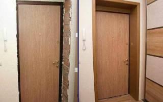 Чем обшить косяки входной двери?
