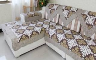 Как сделать чехлы на резинке на диван?
