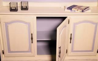 Как покрасить старую кухонную мебель?