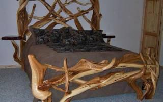 Как изготовить кровать своими руками из дерева?