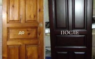 Как восстановить шпонированную дверь?