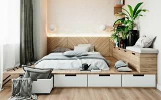 Как сделать подиум под кровать?