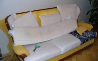 Как дома перетянуть диван?