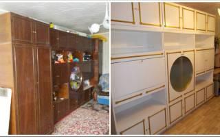 Можно ли перекрасить полированную мебель?