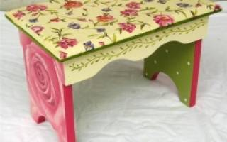 Как покрыть морилкой старую мебель?