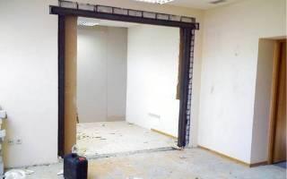 Как сузить дверной проем под межкомнатную дверь?