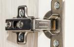 Как подтянуть петли на двери шкафа кухни?
