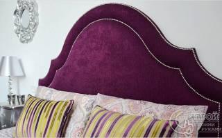 Как сделать подголовник для кровати?