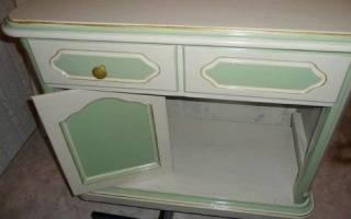 Чем покрасить лаковую мебель?