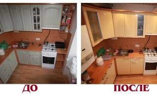 Как поменять пленку на фасаде кухни?