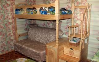 Как разобрать двухъярусную кровать?