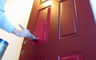Как покрасить пластиковую дверь?