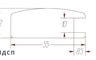 Профиль для мебельных фасадов из МДФ