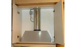 Как встроить каминную вытяжку в шкаф?