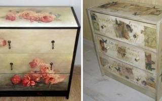 Как задекорировать старую мебель?