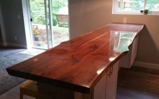 Чем покрыть деревянную столешницу для кухни?