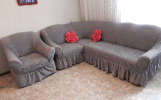 Как правильно натянуть чехол на диван?