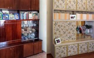 Как обклеить обоями старую мебель?