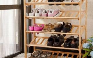 Как сделать обувницу своими руками из дерева?
