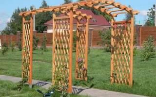 Как самому сделать арку из дерева?